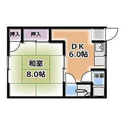 清水田荘[8号室]の間取り
