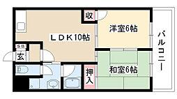 愛知県名古屋市昭和区駒方町6丁目の賃貸アパートの間取り