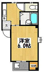 大阪府大阪市鶴見区諸口1丁目の賃貸マンションの間取り