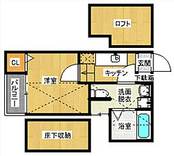 YS吉塚駅東1[101-0号室]の間取り