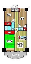 ルミエール3番館[2階]の間取り