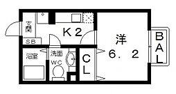 アクアコート[105号室号室]の間取り
