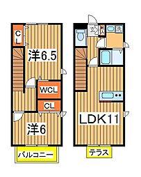 [テラスハウス] 千葉県流山市西平井 の賃貸【/】の間取り
