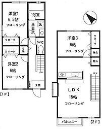 [テラスハウス] 東京都杉並区松ノ木1丁目 の賃貸【/】の間取り
