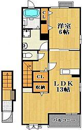 Maison ふじ[2階]の間取り