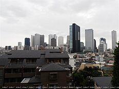 バルコニーからの眺望 西新宿の高層ビル群を望む眺めです