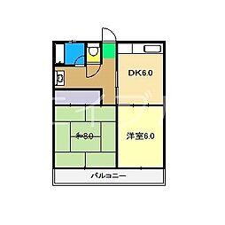 高野第二コーポ[3階]の間取り