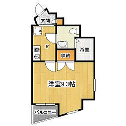 エスポワール椥辻[4階]の間取り