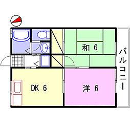 ハイツフローラ[2階]の間取り