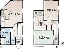 [一戸建] 神奈川県横須賀市武2丁目 の賃貸【/】の間取り