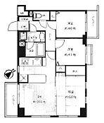 2階部分の3方向角部屋、2面バルコニーで採光・通風良好。