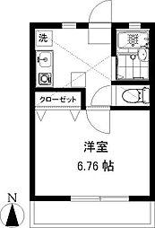 シャローム湘南[1階]の間取り