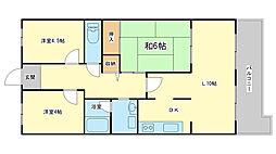ネオハイツ姫路アメティ228[2階]の間取り