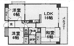 ヴィルトゥ武庫川[603号室]の間取り