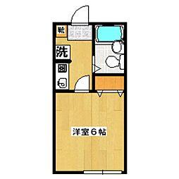 東京都杉並区和泉1丁目の賃貸アパートの間取り