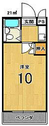 ベルメゾンアルヴェ[102号室]の間取り