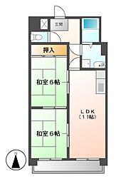 シャトーマスヒコ[6階]の間取り