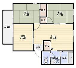 堀井ハイツ[2階]の間取り