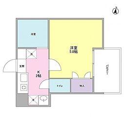 エメラルドマンション3[4階]の間取り