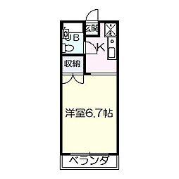 ファーストコーポ[1階]の間取り