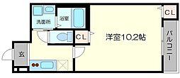 北大阪急行電鉄 江坂駅 徒歩14分の賃貸アパート 1階1Kの間取り