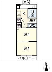 ジョイフル梶田[5階]の間取り
