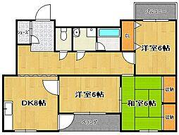 サンプラザ[2階]の間取り