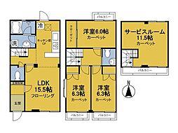 [テラスハウス] 東京都中野区鷺宮5丁目 の賃貸【/】の間取り