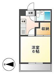 マンションハッピー[2階]の間取り