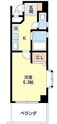 船橋駅近くインターネット無料だし1人暮らししちゃおう〜D[502号室]の間取り