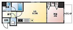 北浜プライマリーワン[3階]の間取り