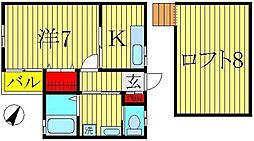 ヒューマンパレス南柏IV[2階]の間取り