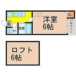 コーポ・ソフィア (コーポ・ソフィア)[2階]の間取り