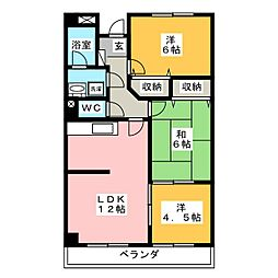 シーサイドビュー[1階]の間取り