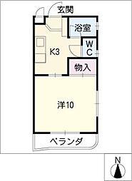 池園シティマンション[2階]の間取り