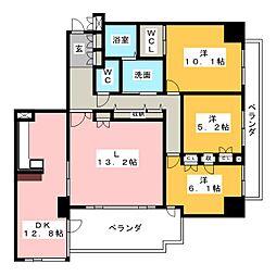 ドムス徳川園[3階]の間取り