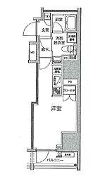 東京都中央区日本橋小網町の賃貸マンションの間取り