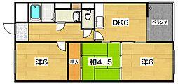 ハイツアザレア[3階]の間取り