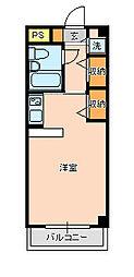 ジュネパレス新松戸第16[504号室]の間取り