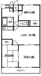 ラーク湘南[2階]の間取り