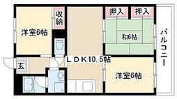 愛知県名古屋市瑞穂区彌富ケ丘町2丁目の賃貸マンションの間取り