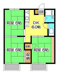 平塚ハイツ B棟[1階]の間取り