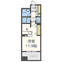 カイセイ江戸堀[11階]の間取り