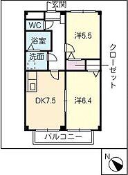 リバーフィールドSUMI A棟[1階]の間取り