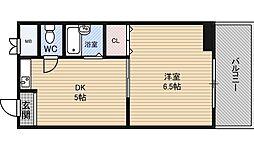 第3マンション新島 2階1DKの間取り
