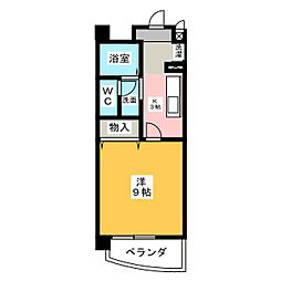 パレドールKonishi[3階]の間取り