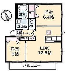 シャーメゾン トゥモロー A棟[1階]の間取り