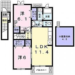 GraceU・K[2階]の間取り