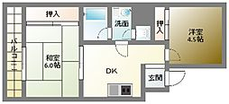 岩津ビル[6階]の間取り