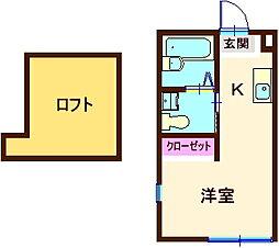 ハーミットクラブハウス神大寺II[103号室]の間取り